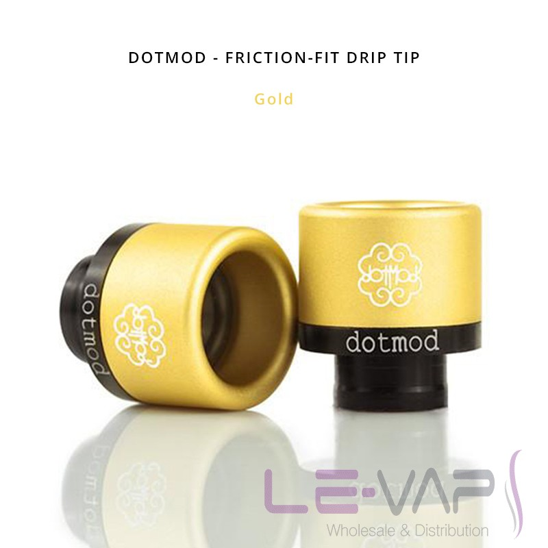 DOTMOD - Friction-Fit Drip Tip-Gold