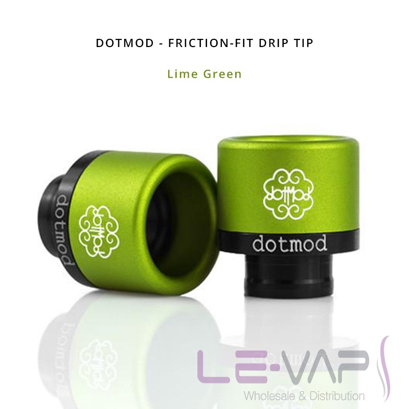 DOTMOD - Friction-Fit Drip Tip-Lime Green