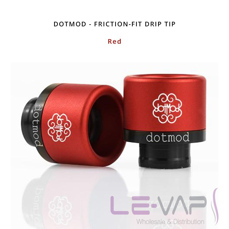 DOTMOD - Friction-Fit Drip Tip-Red